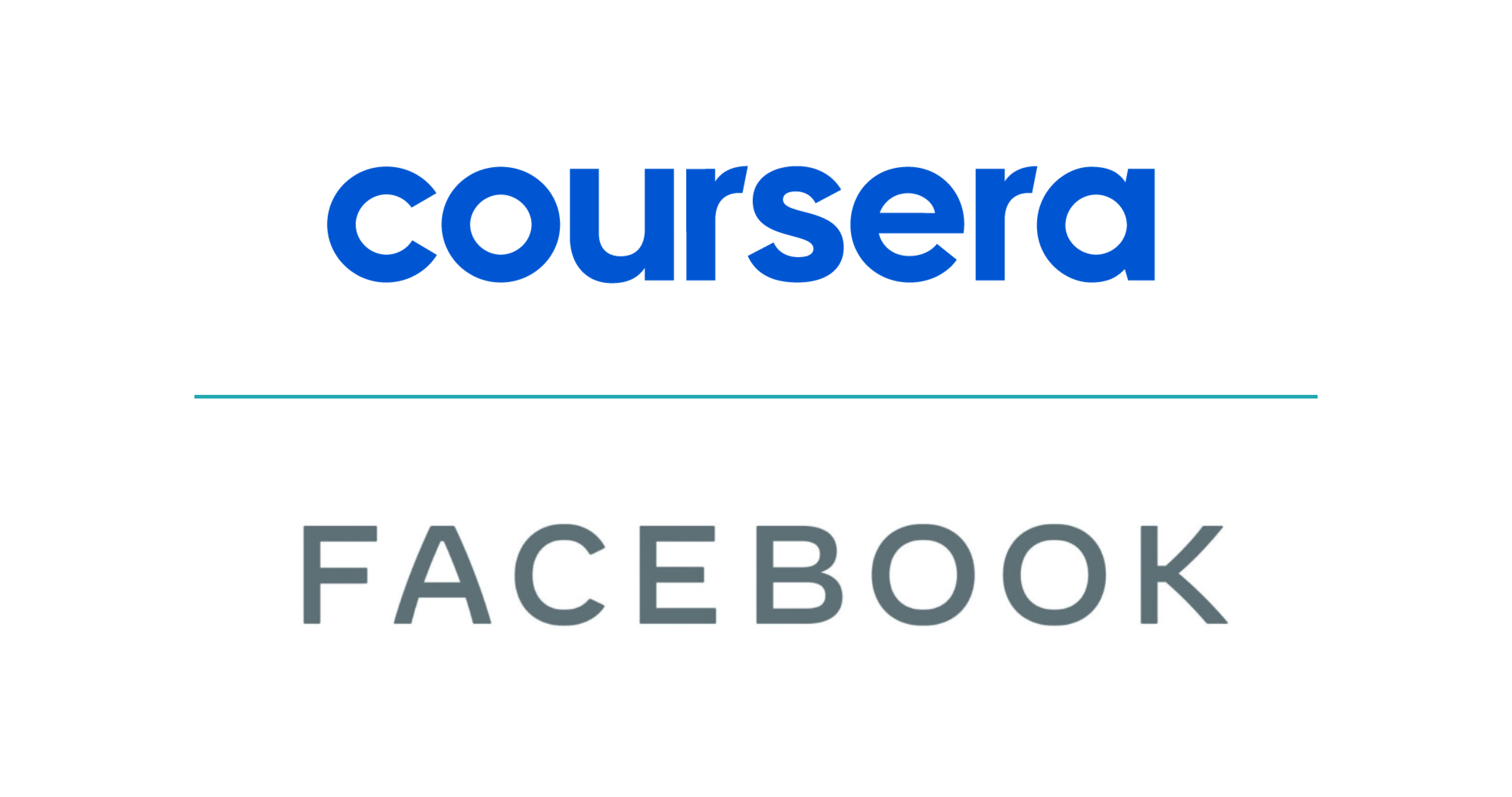 Facebook and Coursera Logos Paired Together